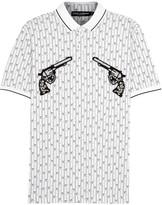 Dolce & Gabbana White Appliquéd Cotton Polo Shirt