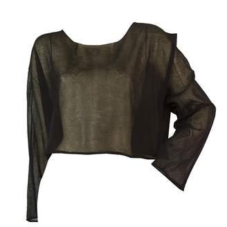 Isabel Benenato Black Cotton Top for Women