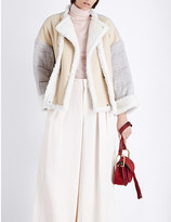 Chloé Contrast-shearling quilted jacket