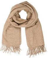 Closed Fringe Wool Scarf w/ Tags