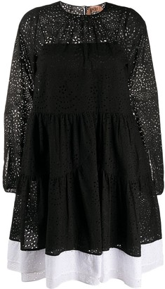 No.21 contrasting hem lace dress