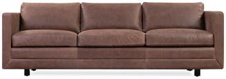 Kardiel Manhattan Leather Sofa, Mocha Top Grain Full Aniline