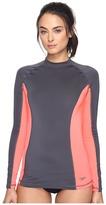 Speedo Solid Long Sleeve Rashguard Women's Swimwear