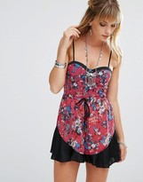 Band of Gypsies Floral Chiffon Romper
