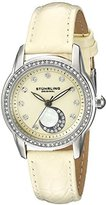 Stuhrling Original Women's Quartz Watch with Beige Dial Analogue Display and Beige Leather Strap 561.03
