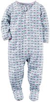 Carter's Toddler Girl Scalloped Printed Footed Pajamas