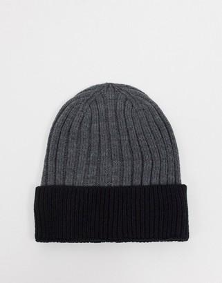 Aldo knitted beanie in dark grey