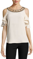 BY AND BY by&by Sleeveless Scoop Neck Crepe Blouse-Juniors