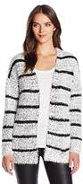 Calvin Klein Women's Eyelash Striped Cardigan