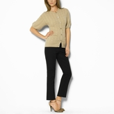 Cashmere Puff-Sleeved Cardigan