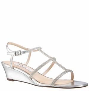 Nina Women's Fiona Metallic Wedge Sandal Women's Shoes