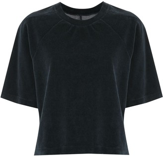 OSKLEN velvet-effect short.sleeved T-shirt