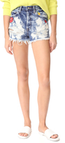 PRPS Amx High Waist Boyfriend Shorts