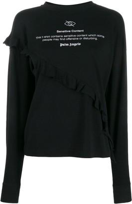 Palm Angels ruffled sweatshirt