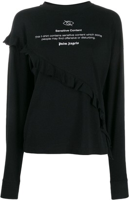 Palm Angels Ruffled Sweatshirt