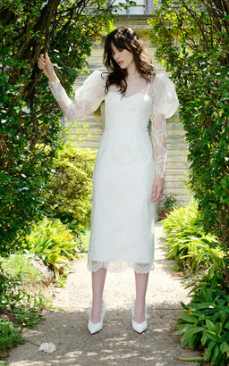 Elizabeth Fillmore Bridal Isadora Fitted Scallop Lace Modern Victorian Day Dress