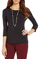 Investments Petite Essentials 3/4-Sleeve Top
