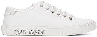 Saint Laurent White Malibu Sneakers