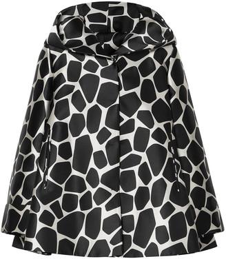 Sara Battaglia Satin-jacquard Hooded Jacket