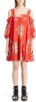 Alexander McQueen Women's Island Bouquet Cold Shoulder Dress