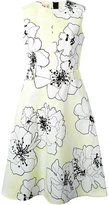 Marni floral flared dress - women - Cotton/Linen/Flax - 36