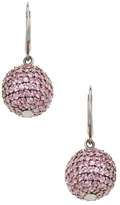 Rina Limor Fine Jewelry Silver & Pink Sapphire Orb Earrings