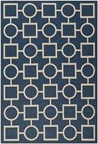 """Safavieh Capri"""" Indoor/Outdoor Rug, Navy/Beige, 160 x 231 x 0.64 cm"""