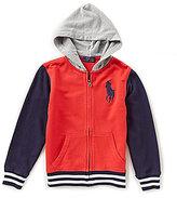 Ralph Lauren Little Boys 5-7 Color Block Hoodie Jacket