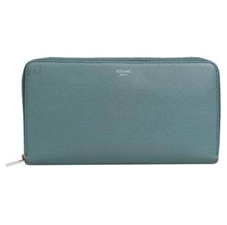 Celine Blue Leather Wallets
