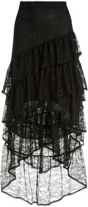 Alice + Olivia Tiered Mesh Skirt