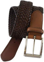 John Deere Leather Braided Belt