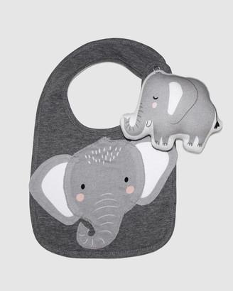 Mister Fly Elephant Bib & Rattle Bundle