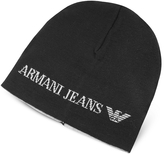 Armani Jeans Solid Wool Blend Men's Beanie Hat