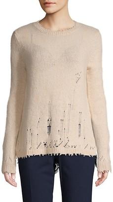 Autumn Cashmere Distress Layered Cashmere Sweater