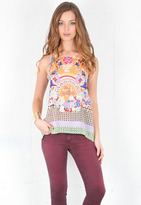 Singer22 Picnic Scarf Top in Multi - by Clover Canyon