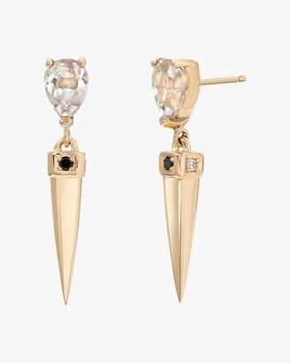 Dru White Topaz Spike Earrings