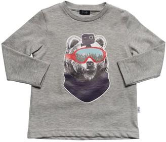 Il Gufo Bear Print Cotton Jersey T-shirt