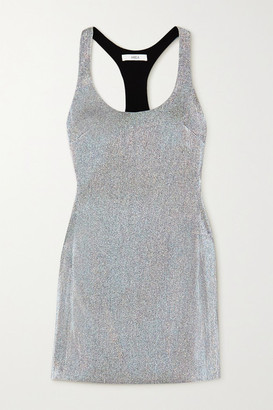 Area Lame Mini Dress - Silver