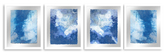 PTM Images Abstract Wave (Framed Giclee) (Set of 4)