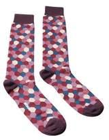 Missoni Gm00cmu5697 0003 Purple/rose Calf Length Socks.