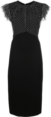 Jason Wu Collection polka dot fitted dress