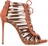 Le Silla strappy shoe boots - women - Leather/Patent Leather/Suede - 38