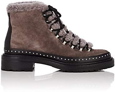 9ce5eb37597 Women's Compass Suede & Shearling Ankle Boots - Gray