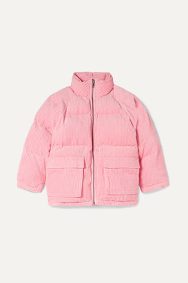 Stella Mccartney Kids Quilted Padded Cotton-corduroy Jacket - Pink