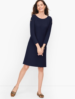 Talbots Knit Bateau Neck Dress - Solid