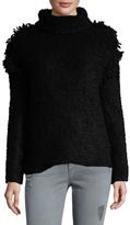 IRO Cliff Turtleneck Fringe Shoulder Sweater