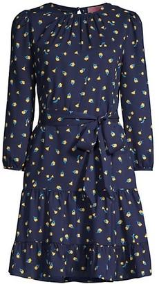 Dainty Bloom Tie-Waist Dress