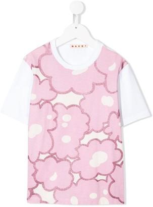 Marni short sleeve floral pattern T-shirt