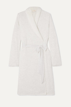 Eberjey Aspen Fleece-lined Modal-jersey Robe - Gray