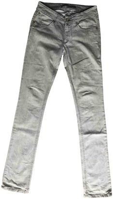 Superfine Grey Cotton Jeans for Women